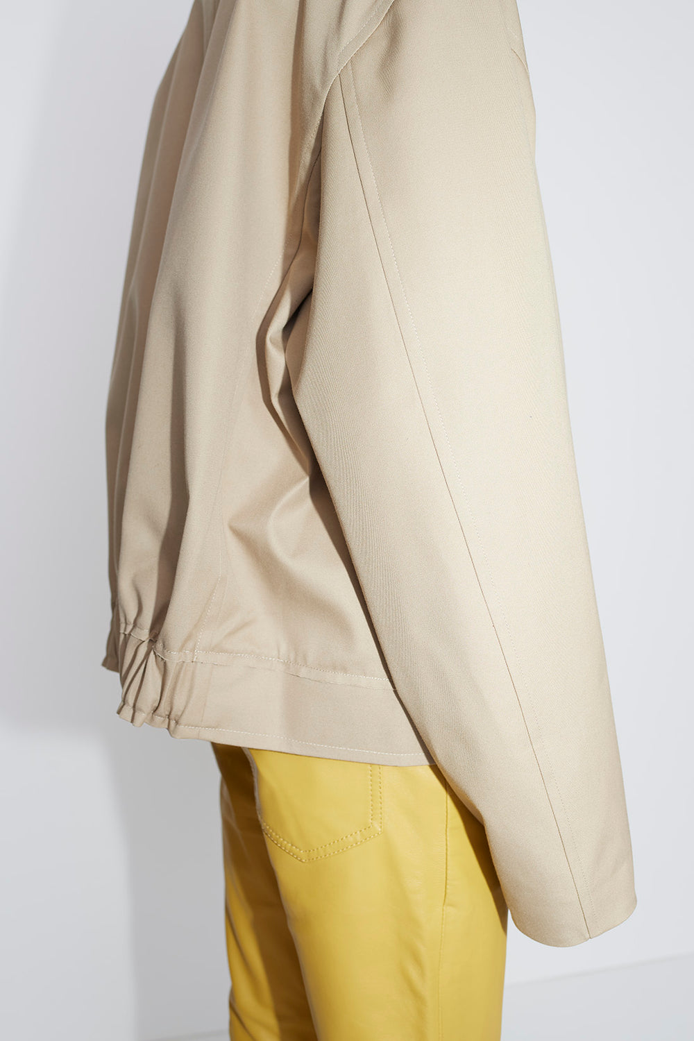 Bron cropped coat beige