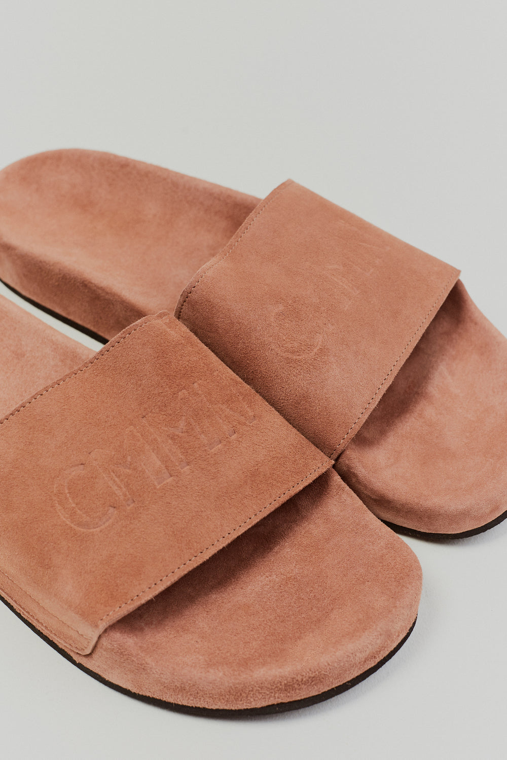 Suede Pool Sliders Rouge
