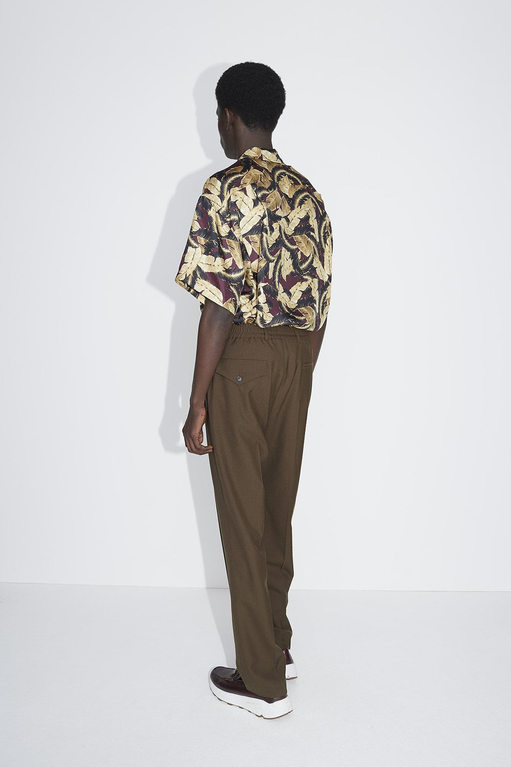 Jez pleat trousers brown
