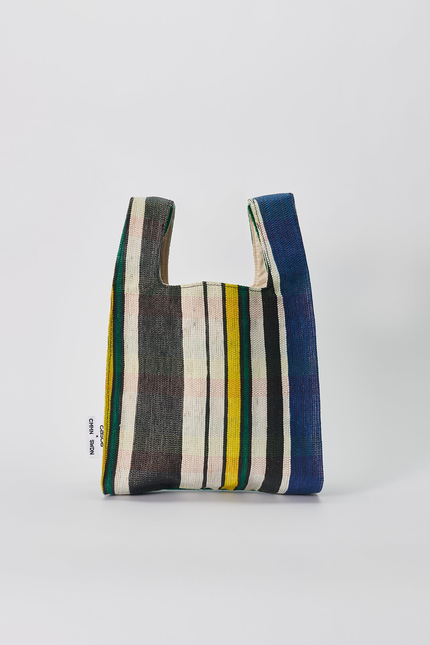 Shopper bag turquoise stripe