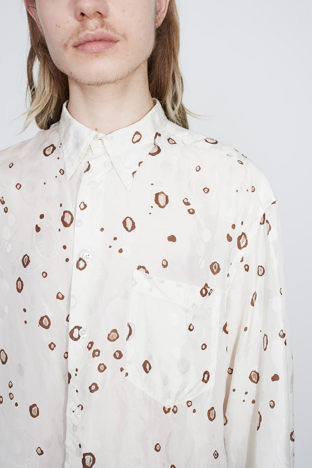 Bas burnout shirt white/brown