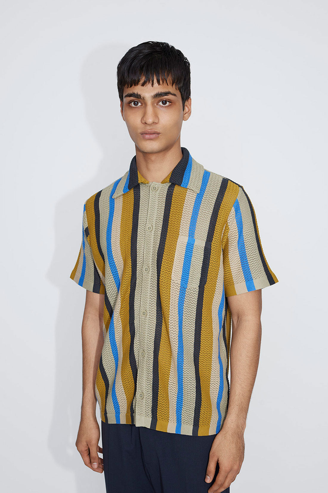 Wes crochet shirt multicolour
