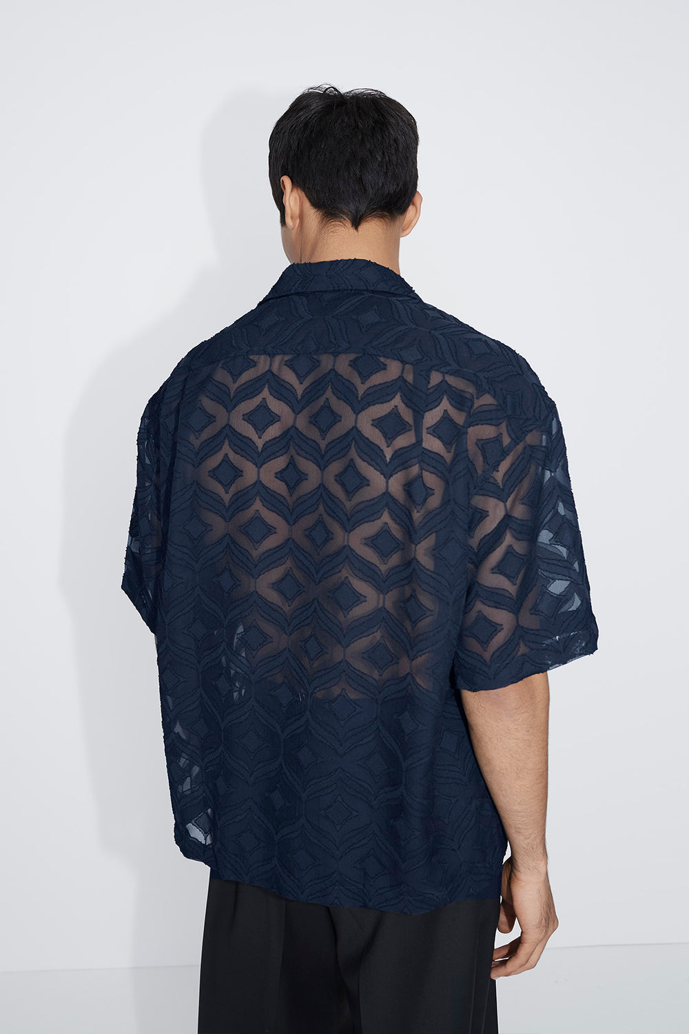 Kim camp collar shirt navy