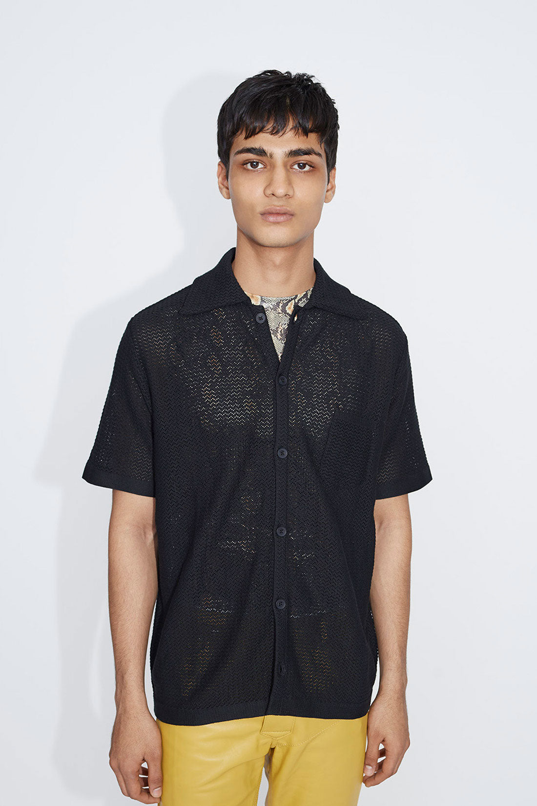 Wes crochet shirt black