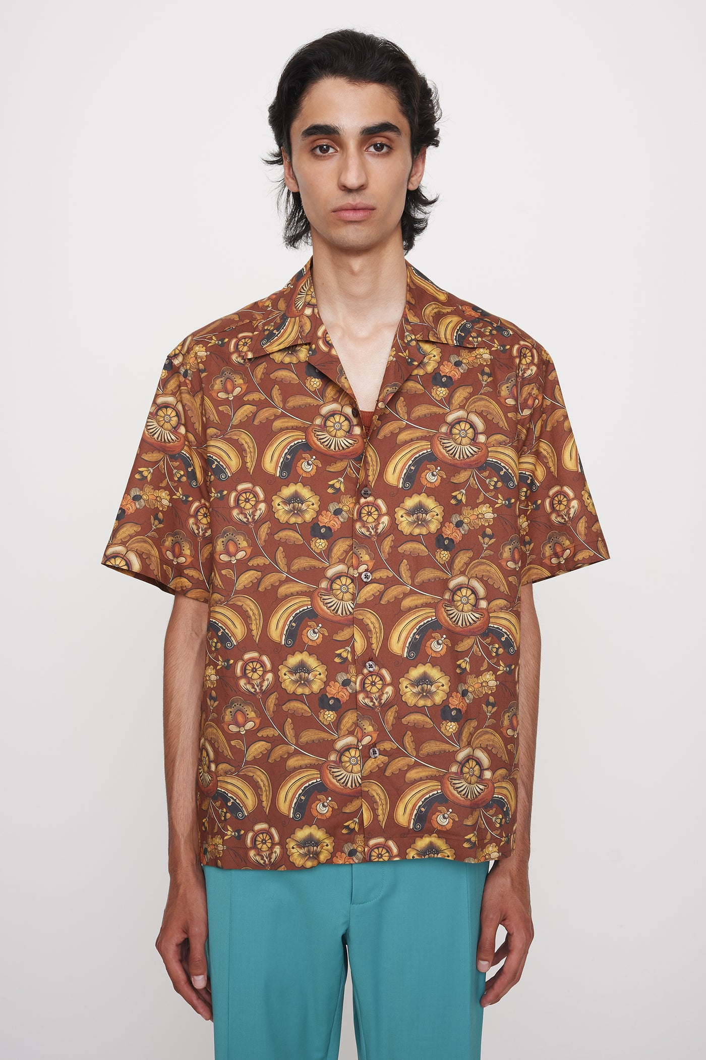 Sol printed shirt brown floral