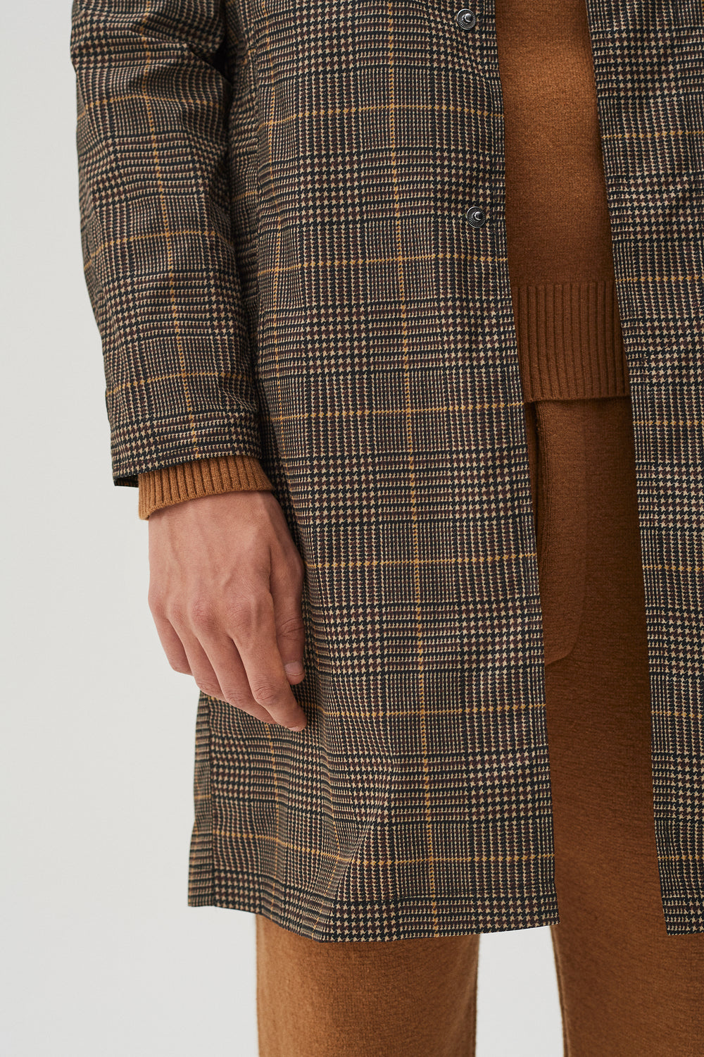 Leonard Coat Beige Check