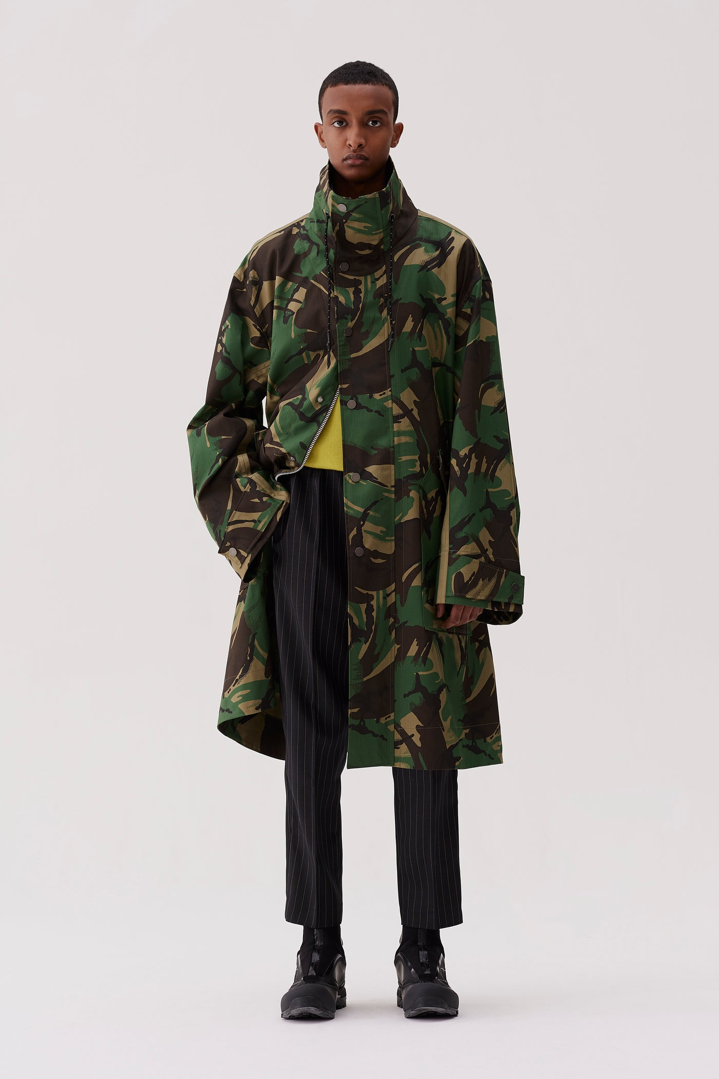 Artem Car Coat Camouflage