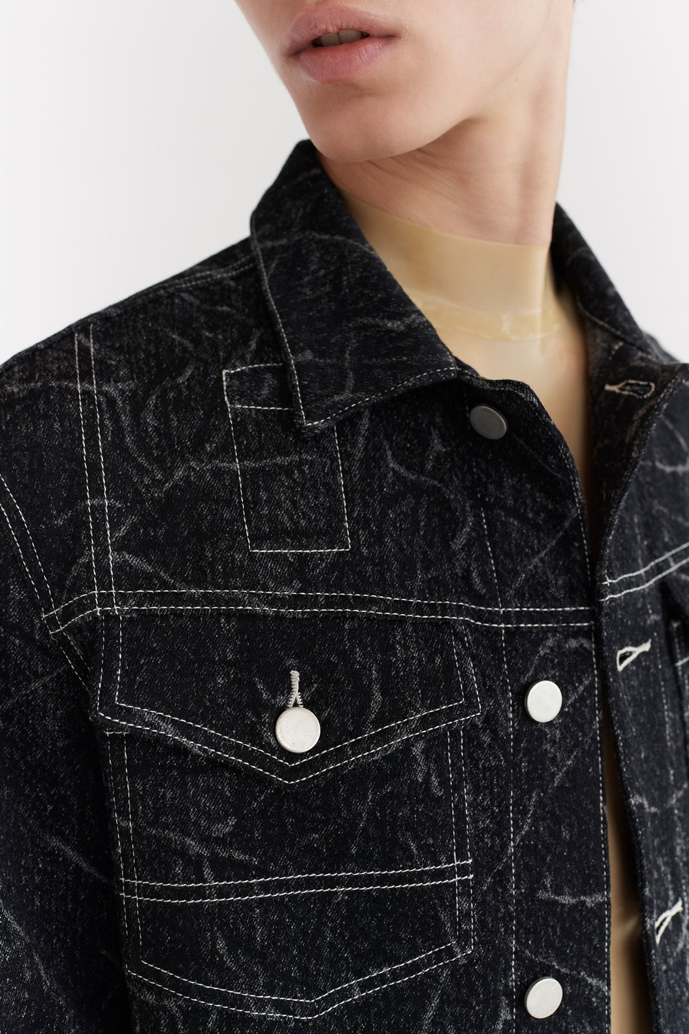 Brandon Wool Denim Jacket Black