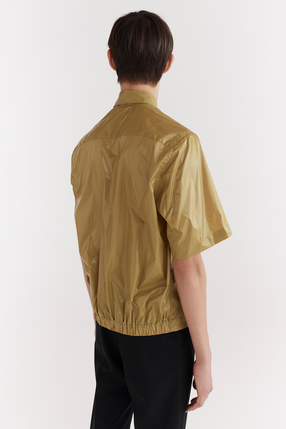 Damien Elasticated Shirt Olive Green