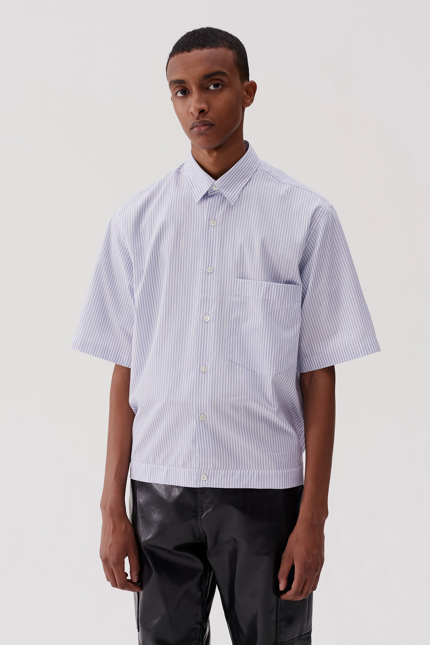 Damien Elasticated Shirt Office Stripe