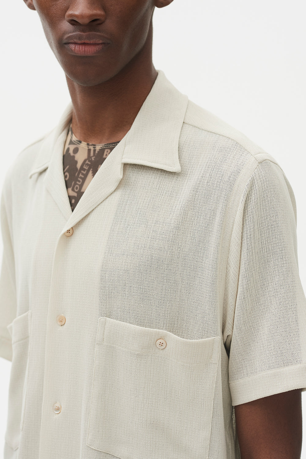 Dexter Camp Collar Shirt Cream