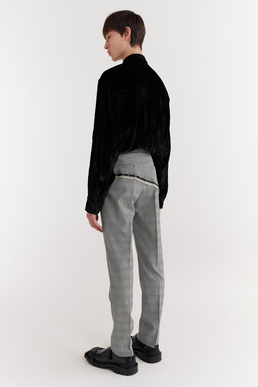 D'Angelo Raw Edge Trousers Houndstooth/Check