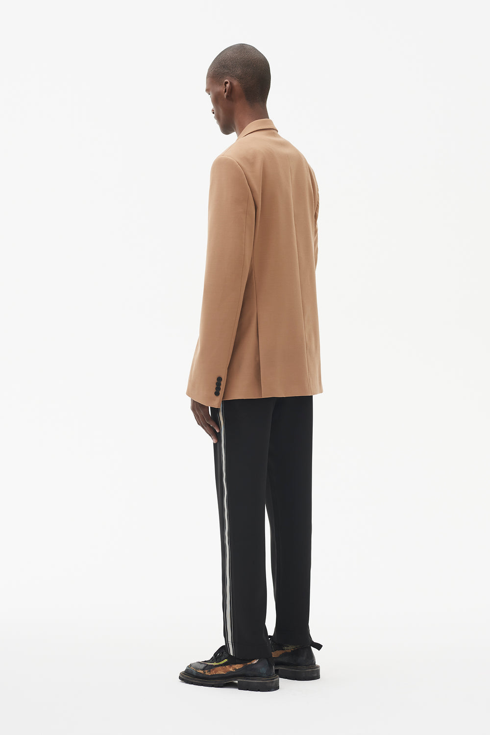 Ellis Double-Breasted Tailored Jacket Camel