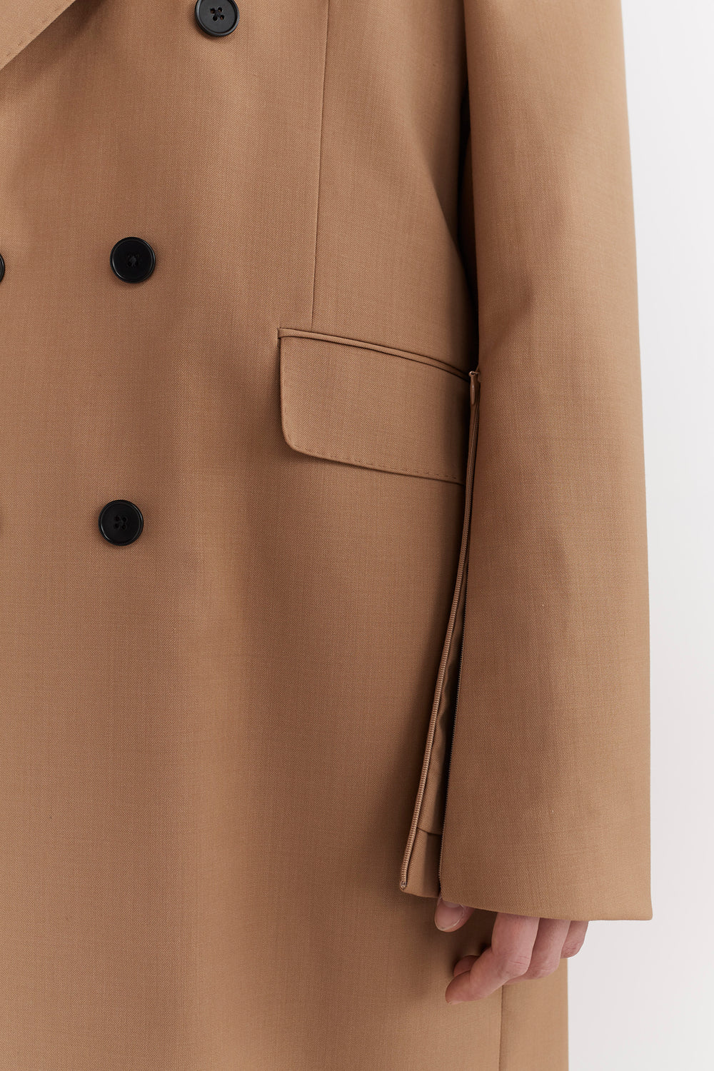 Emil Double-Breasted Tailored Coat Camel