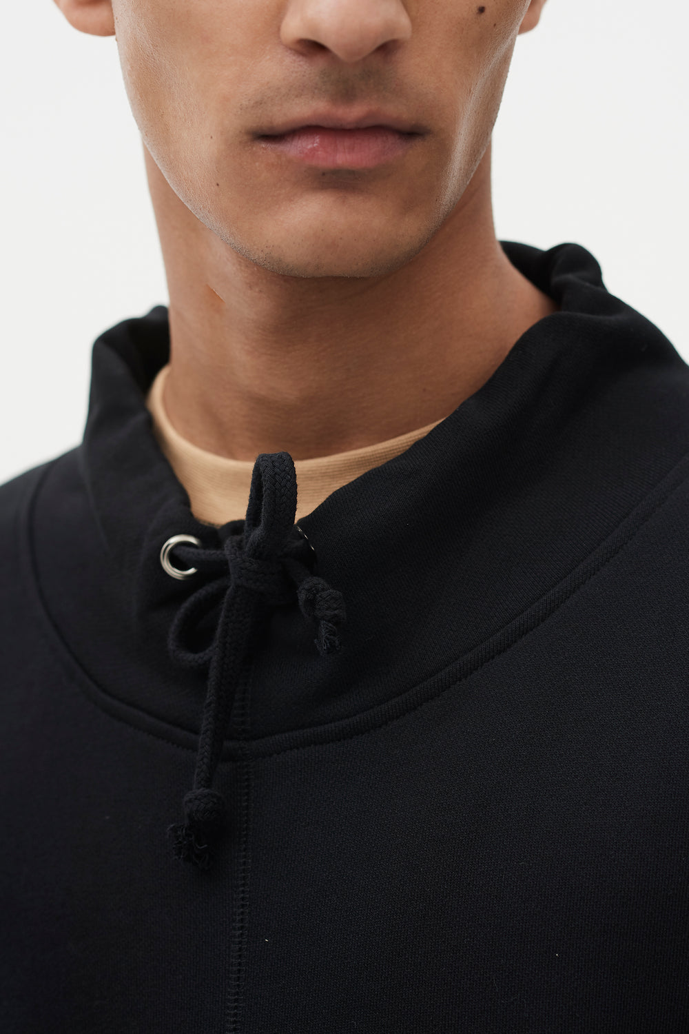 Kyle Mock Neck Sweatshirt Black