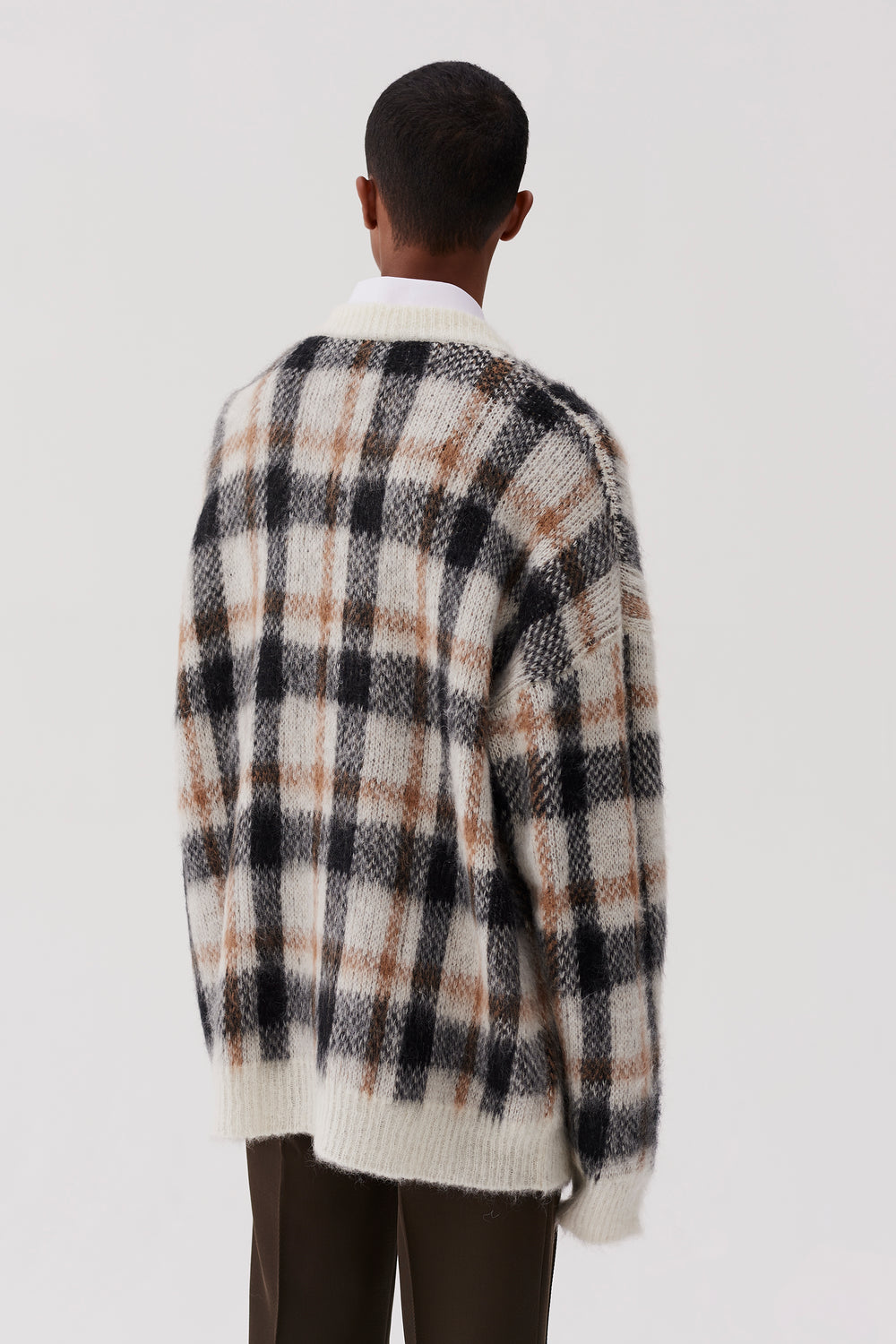 Micha Knitted Sweater Brown Check