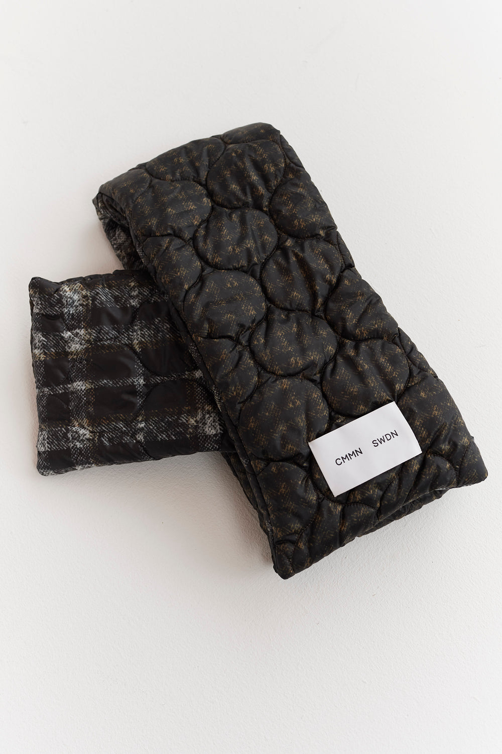 Quinn Quilted Scarf Black/White Check