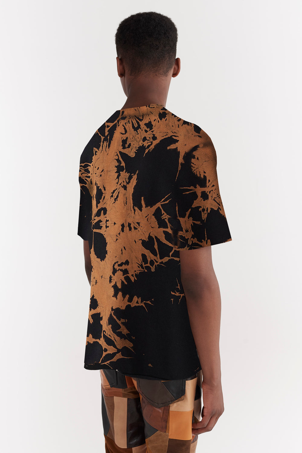 Ridley Bleach Dyed T-shirt Brown