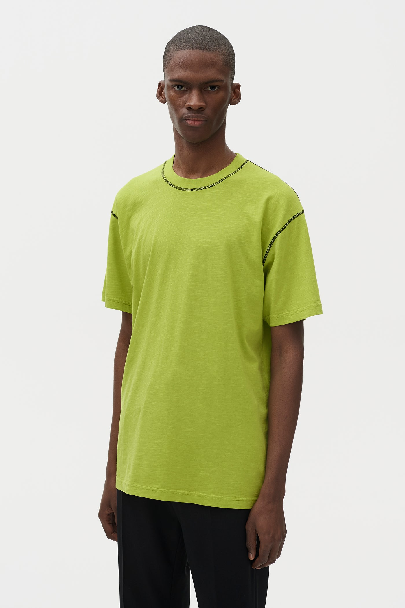 Ridley Contrast T-shirt Lime