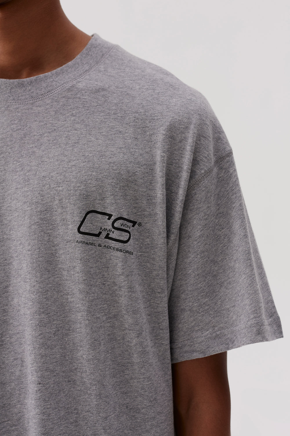 Ridley CS Logo T-shirt Melange Grey