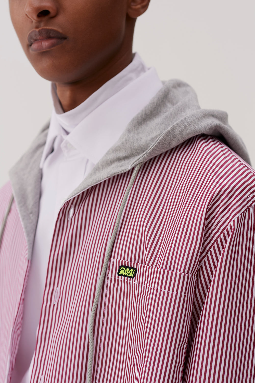 Riley Hooded Shirt Red Stripe