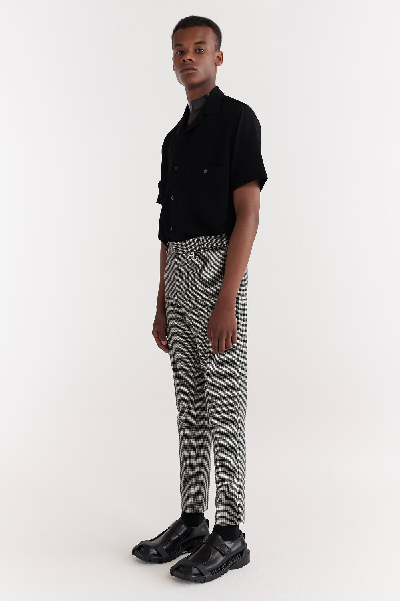 Samson Zip Pocket Trousers Houndstooth