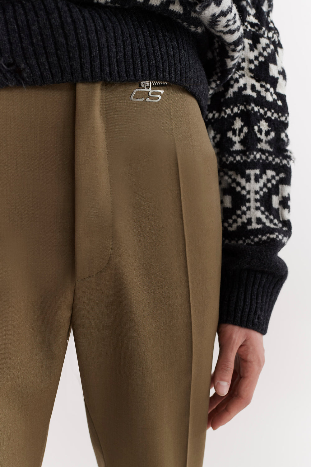 Samson Zip Pocket Trousers Moss Green