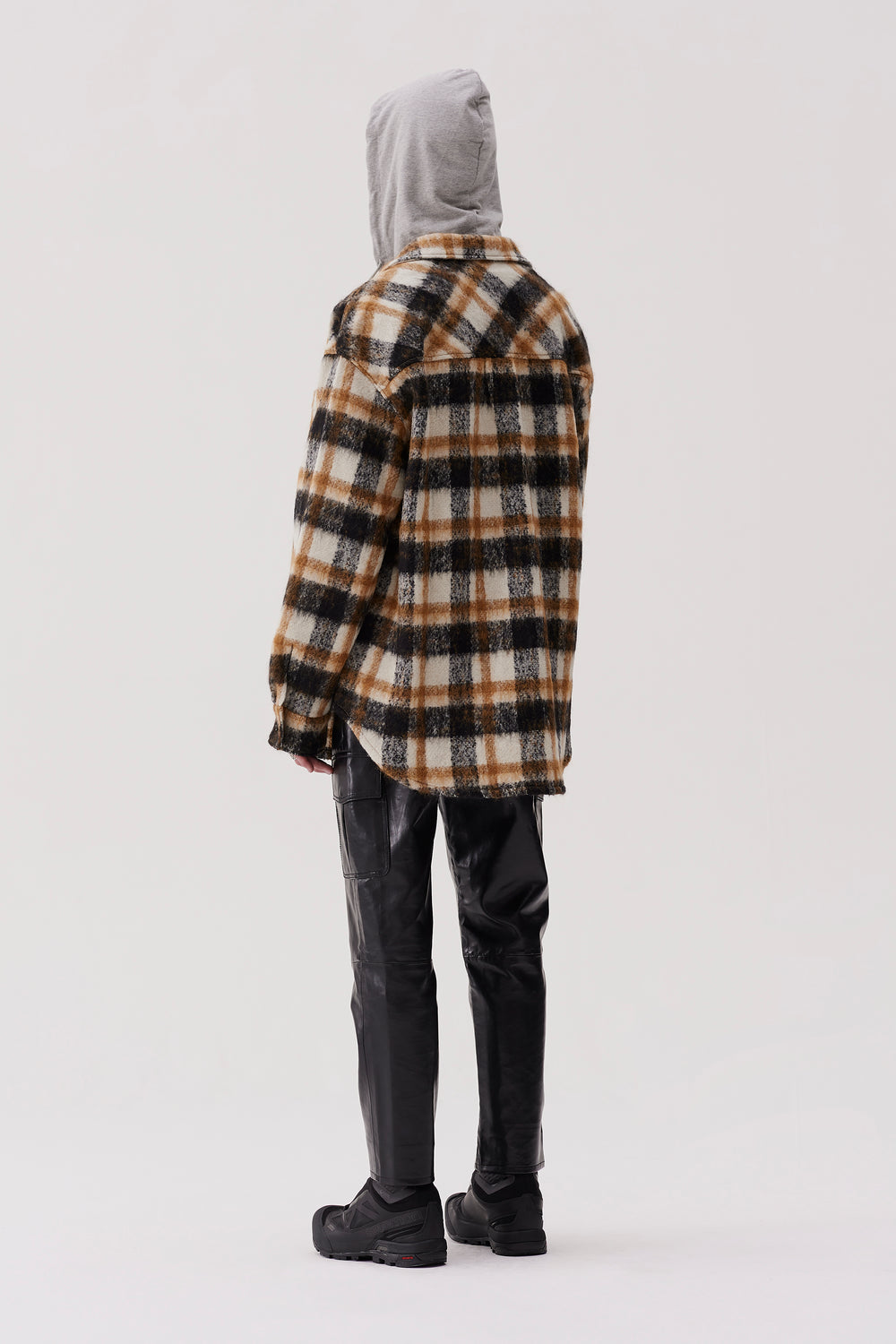 Sergey Shirt Jacket Brown Check
