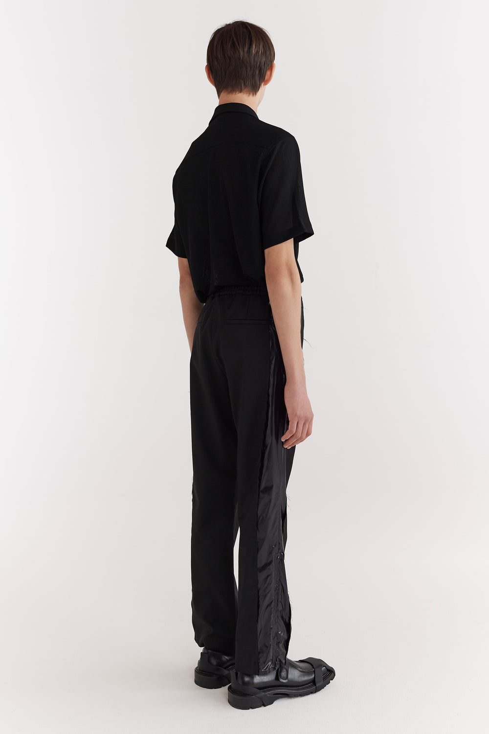 Stan Hybrid Elasticated Waist Trousers Black