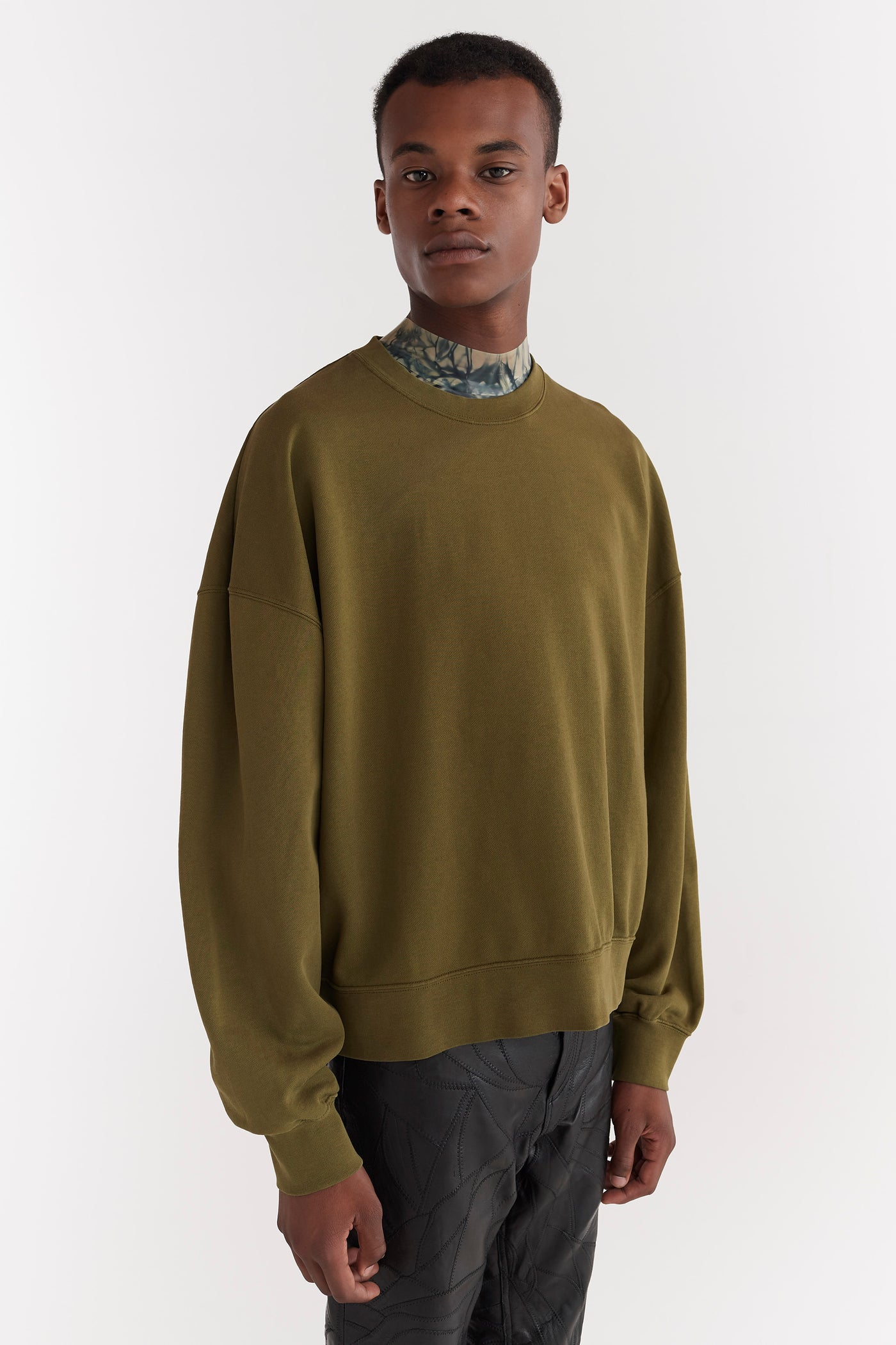 Trek Relaxed Fit Sweatshirt Moss Green