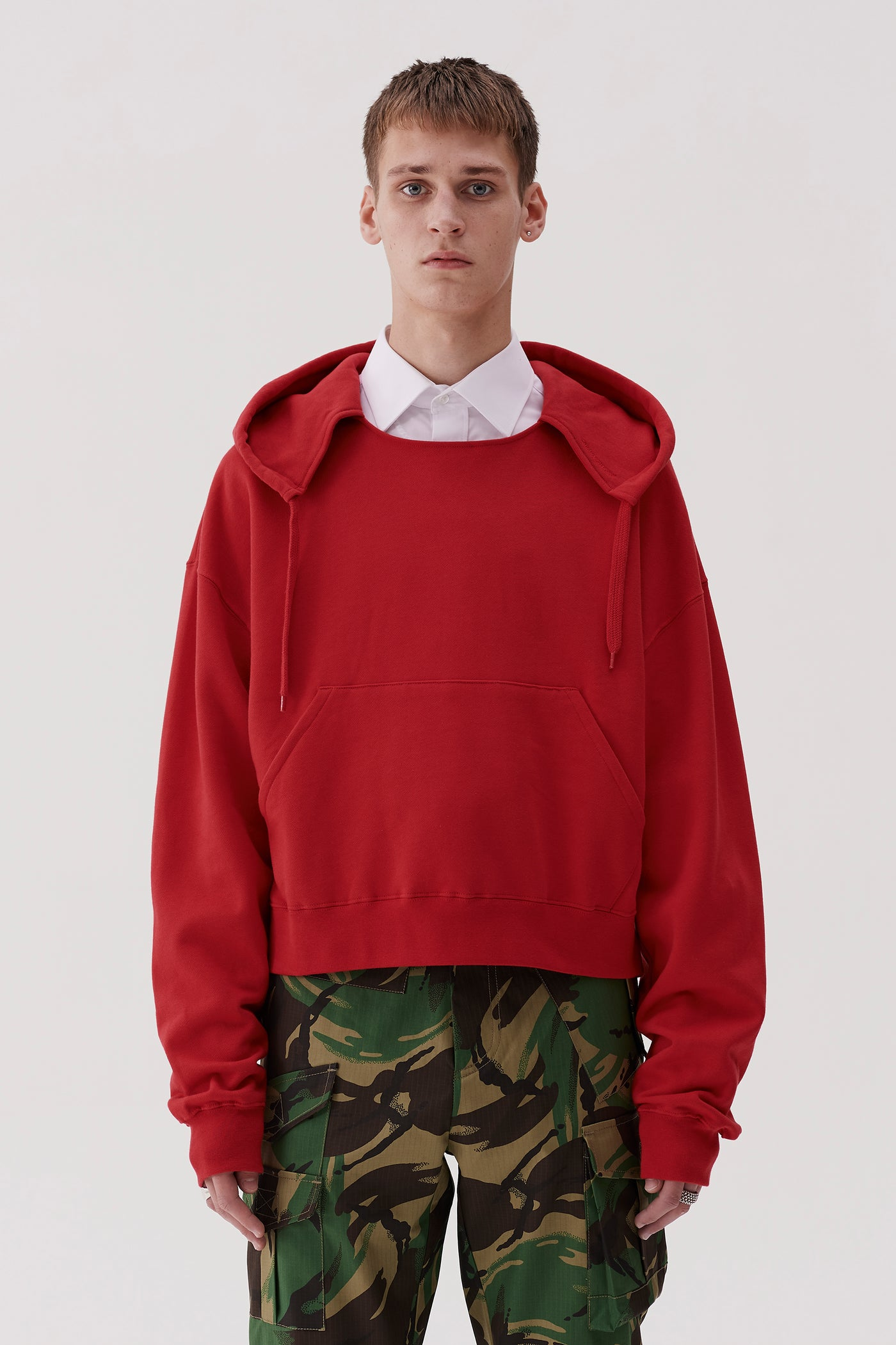 Tyrone Hooded Sweatshirt Red