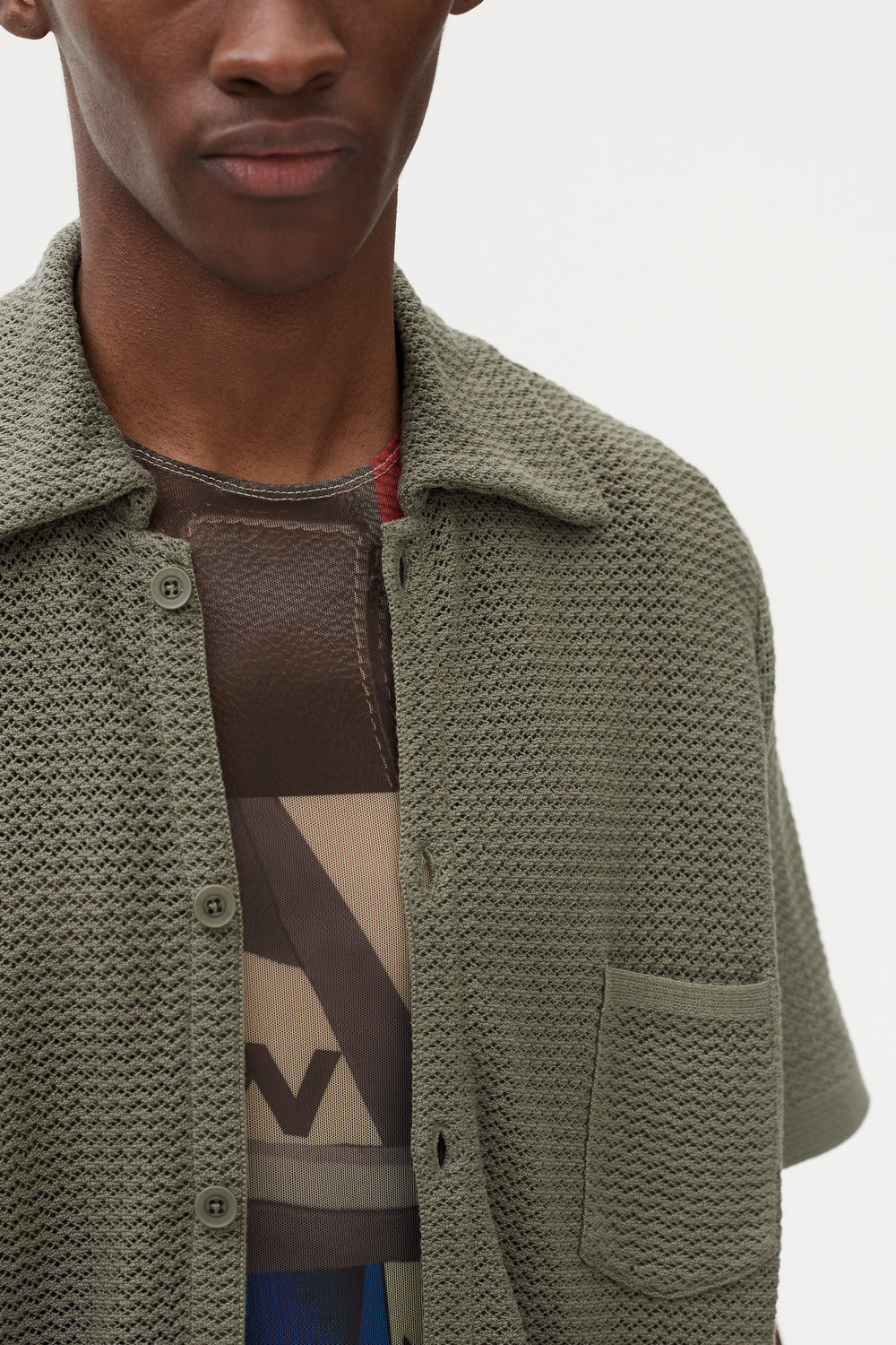 Wes Knitted Shirt Grey