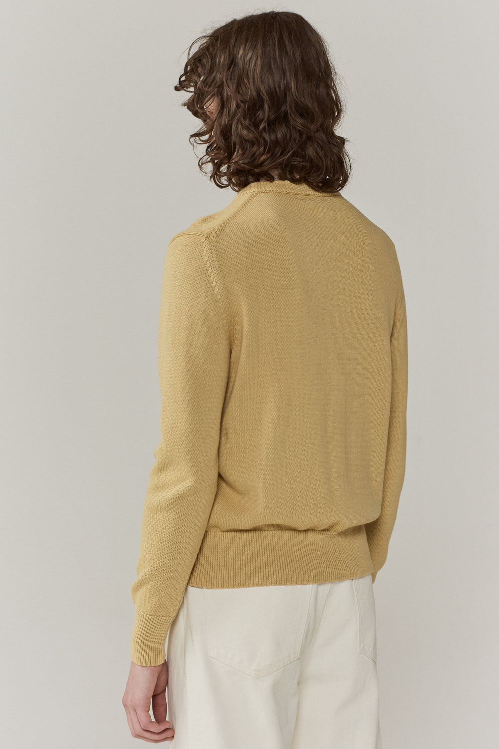 Colby Crew Neck Jumper Faded Yellow