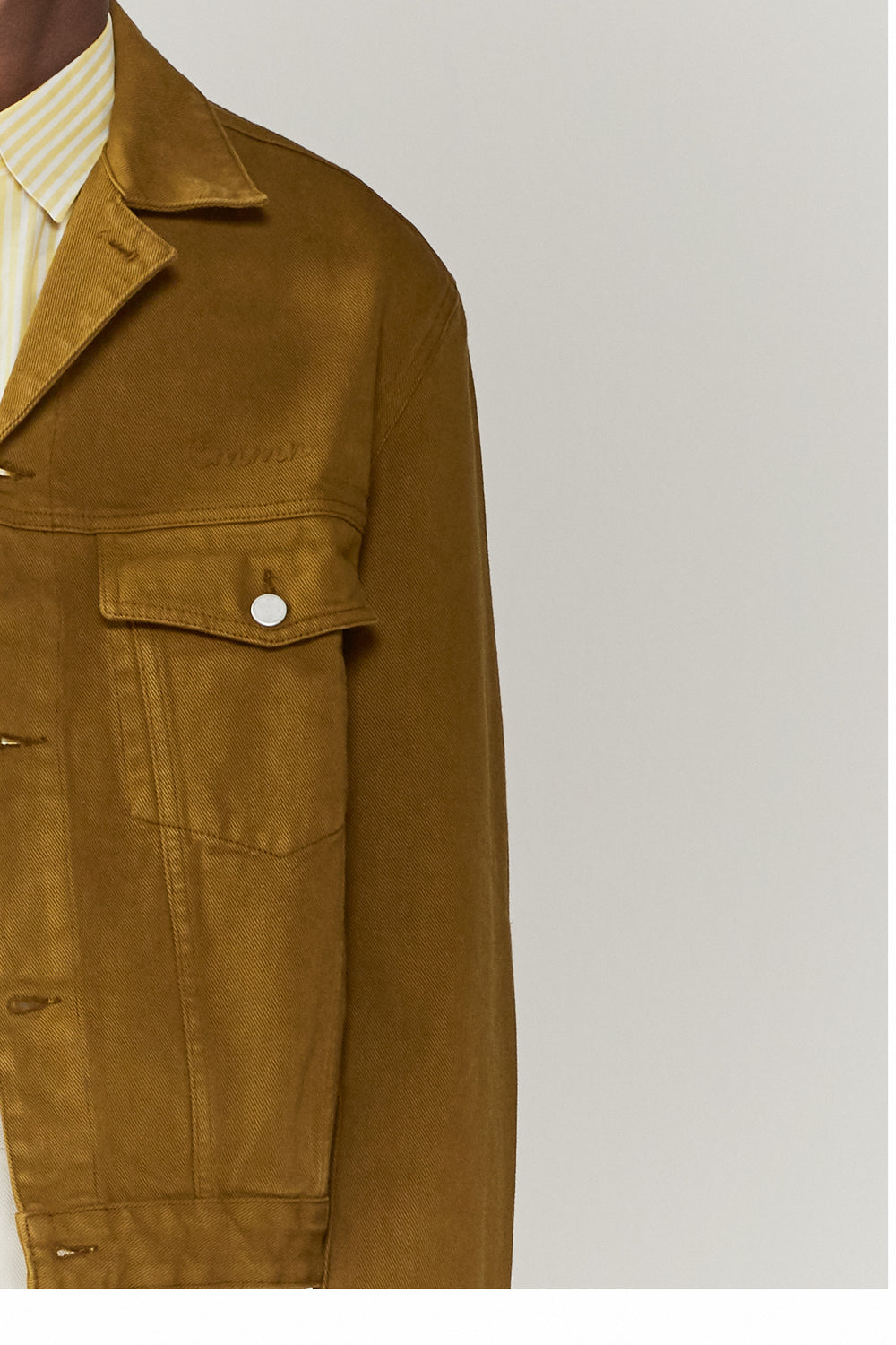 Boris Denim Jacket Olive Green