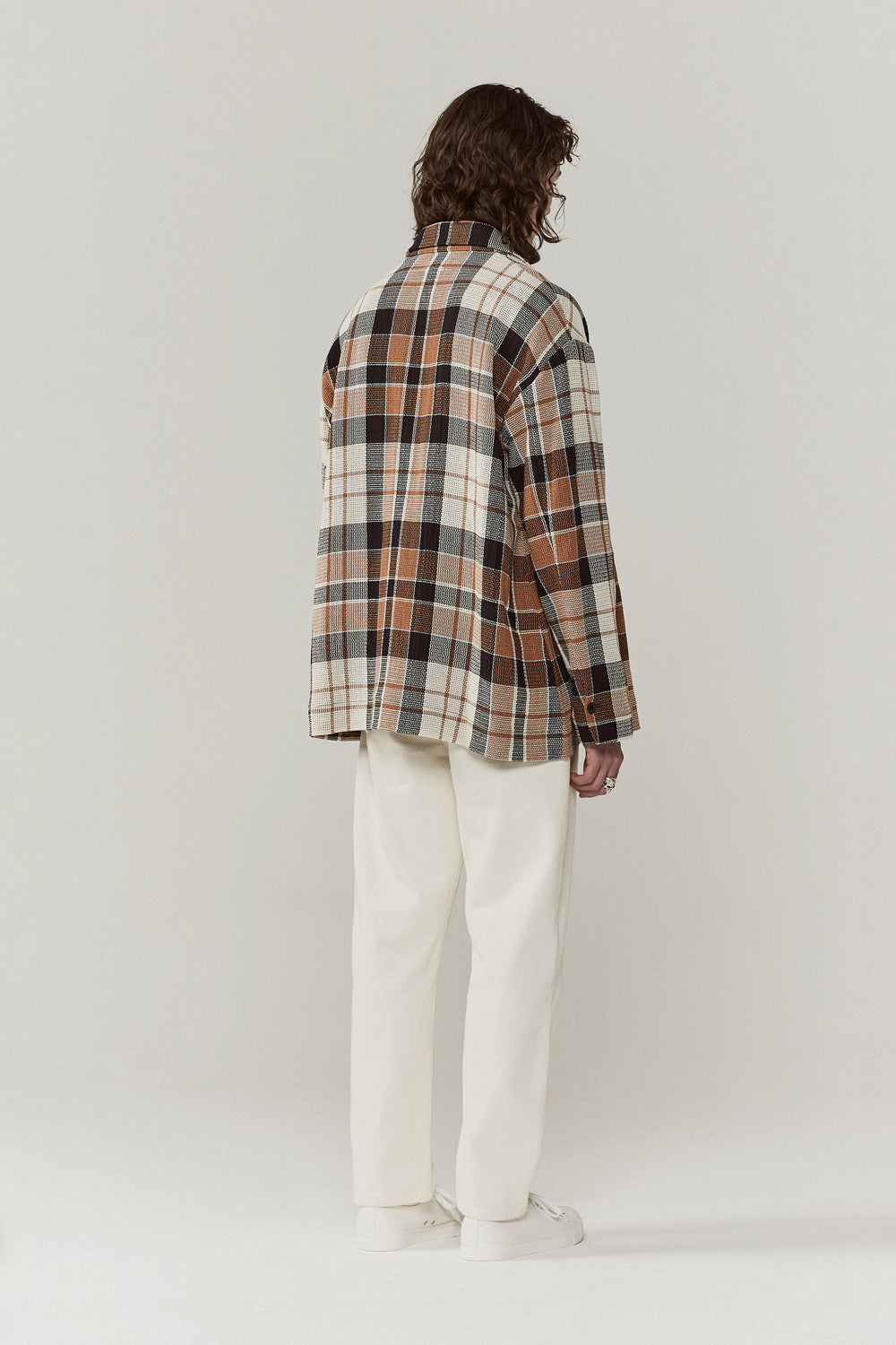 Kline Utility Jacket Brown Check
