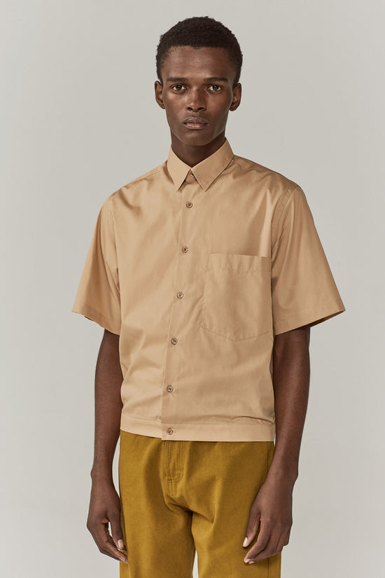 Damien Elasticated Shirt Sand