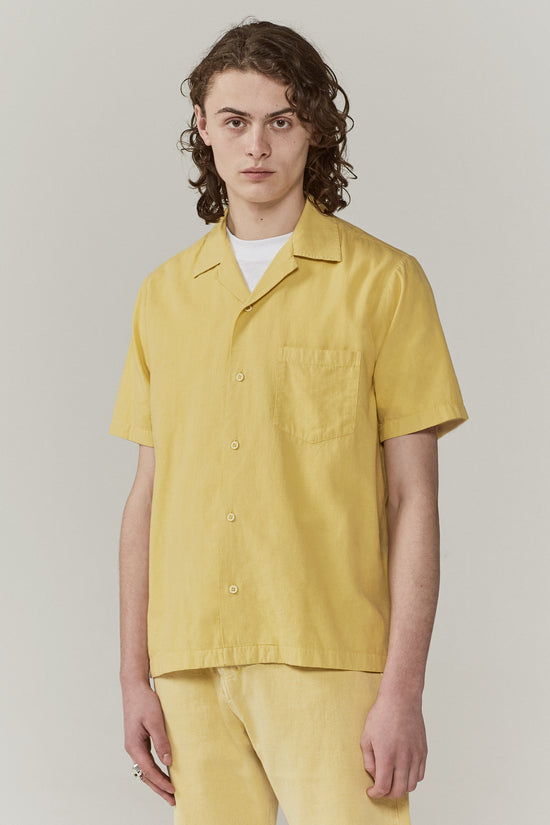 Duncan Camp Collar Shirt Faded Yellow