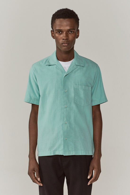 Duncan Camp Collar Shirt Mint Green