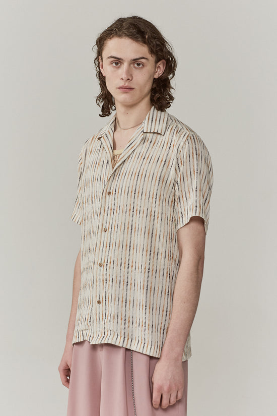 Dusty Camp Collar Shirt Vintage Stripe