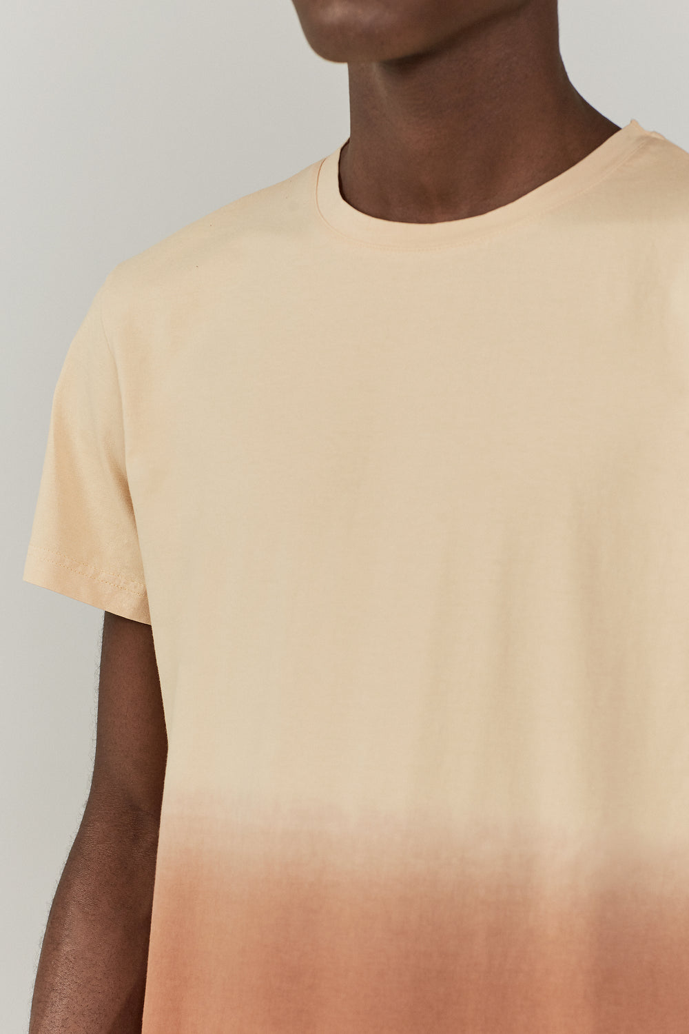 Boyd Linen Mix T-shirt Beige Degrade