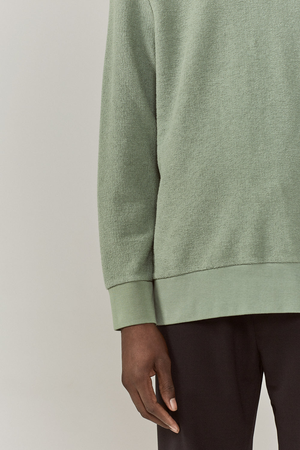 Coen Reversed Loopback Sweatshirt Mint Green