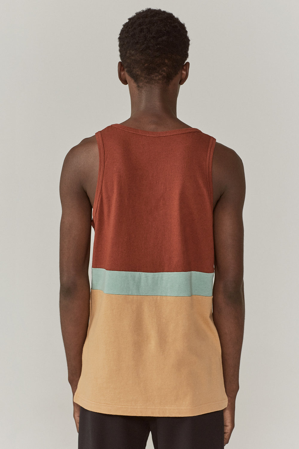 Tank Colour Blocked Vest Multicolour