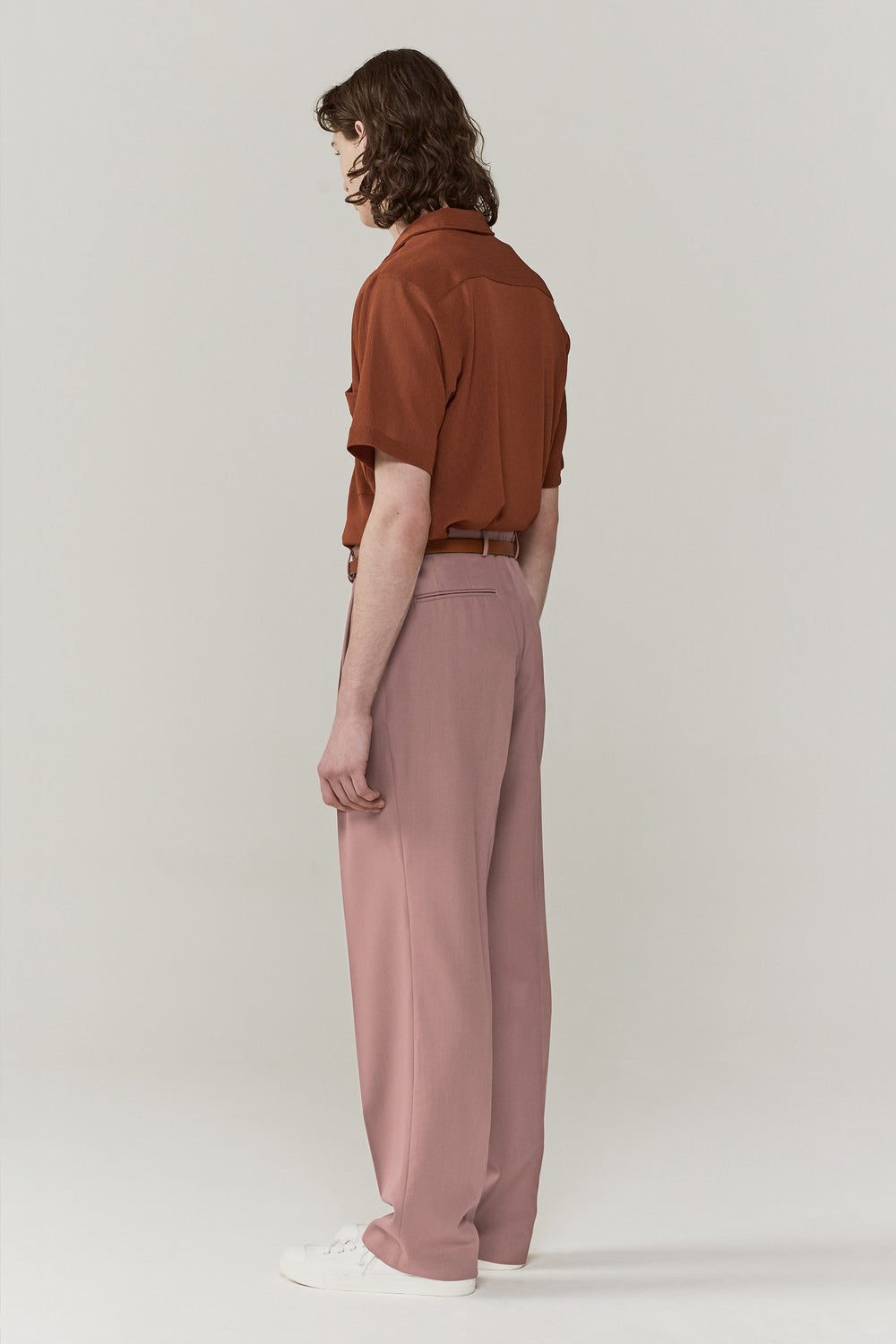 Jay Pleated Trousers Lavender
