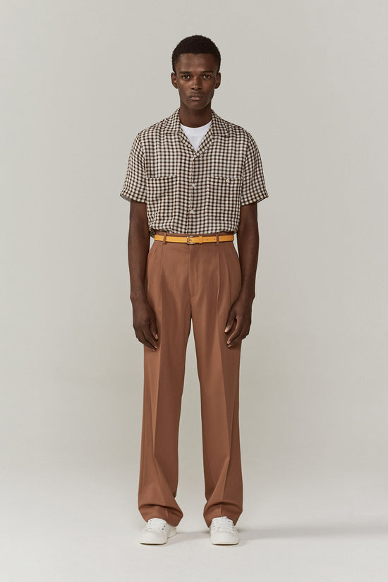 Jay Pleated Trousers Soft Clay