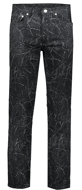 Connor 5 Pocket Jeans Wool Jacquard Distress