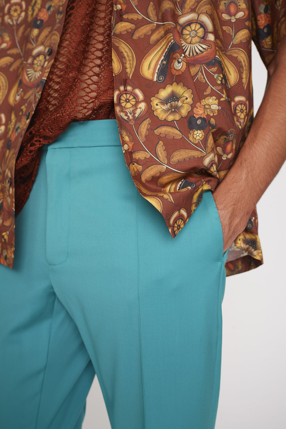 Ryle bootcut trousers turquoise