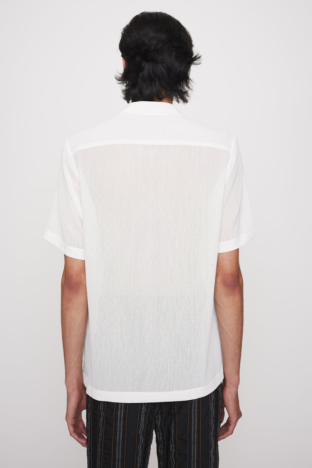 Dexter camp collar shirt white