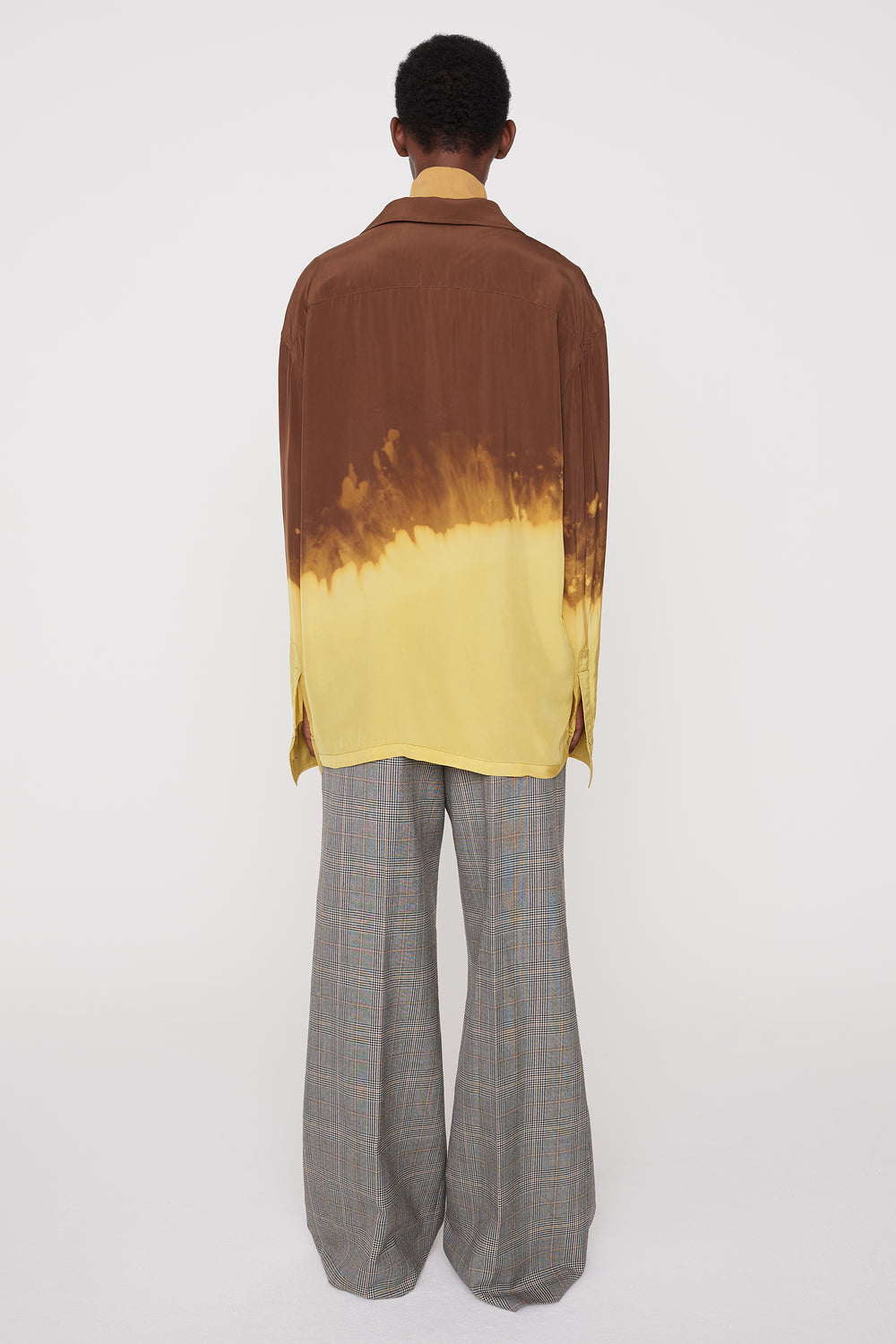 Otto wide-leg trousers check