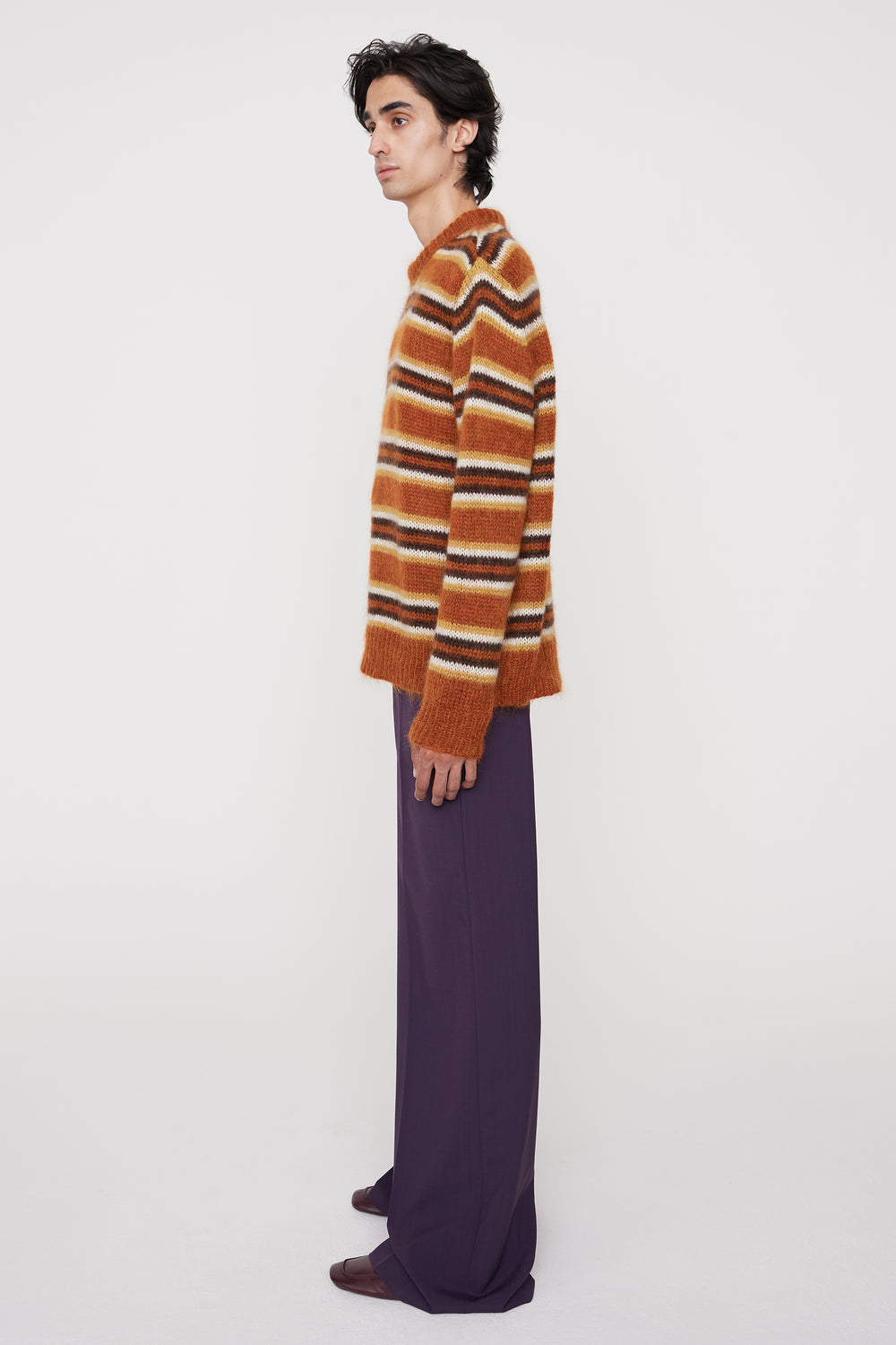 Otto wide-leg trousers purple