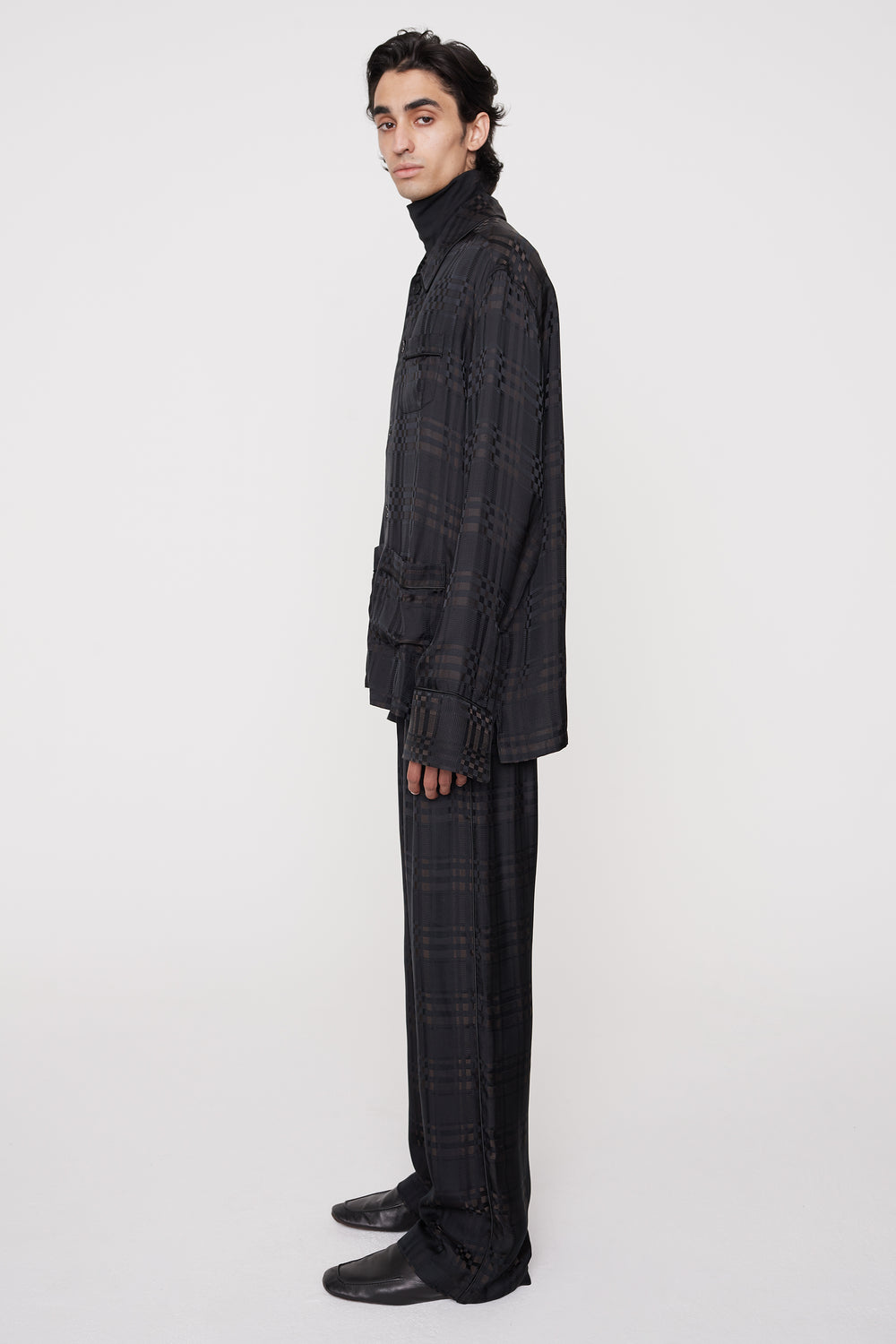 Kylo Pj-style trousers brown check